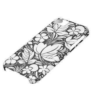 Flores y modelo retros blancos y negros de los rem funda para iPhone 5C