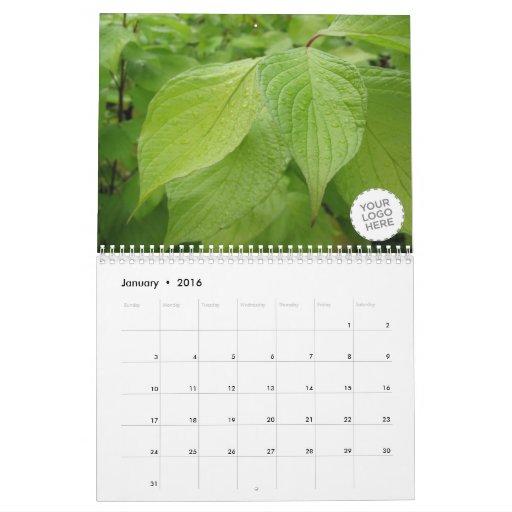 Flores y naturaleza calendario