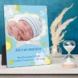 Flores y nuevas placas de la foto del nacimiento d