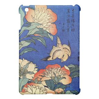 Flores y pájaro, Hokusai