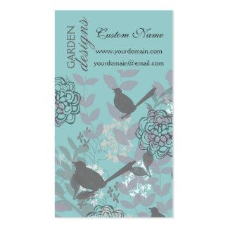 Flores y pájaros bonitos traviesos frescos del ver tarjetas de visita