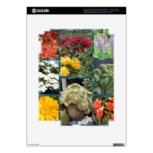 flores y plantas maravillosas del collage iPad 3 skin