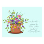 Flores y postal de la amabilidad