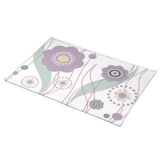 Flores y puntos mantel individual