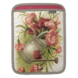 Flores y regadera de la primavera fundas para iPads