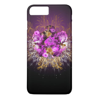 Flores y remolinos en estilo givenchy funda iPhone 7 plus