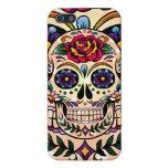 Flores y rosas retros coloridos del cráneo del iPhone 5 fundas