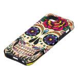 Flores y rosas retros coloridos del cráneo iPhone 5 carcasa