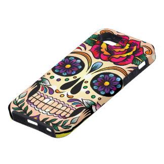Flores y rosas retros coloridos del cráneo funda para iPhone SE/5/5s