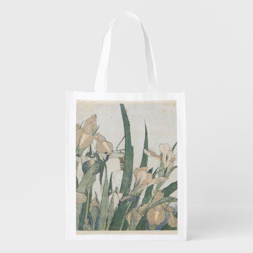 Flores y saltamontes, c.1830-31 del iris bolsa de la compra