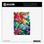 flores y sol del color de agua skins para iPod touch 4G