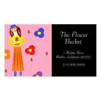 Flores y subió tarjetas personales