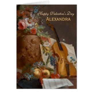 Flores y tarjeta de felicitación de la tarjeta del