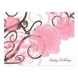 Flores y vides tarjetas postales