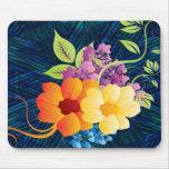 Flores y vides tropicales alfombrillas de raton