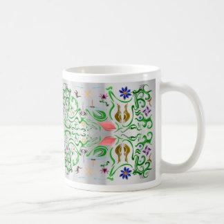 Flores y Whims~echo Taza De Café