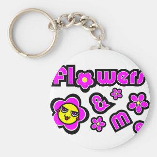 Flores y yo llavero