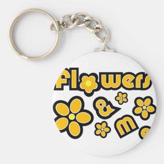 Flores y yo llaveros