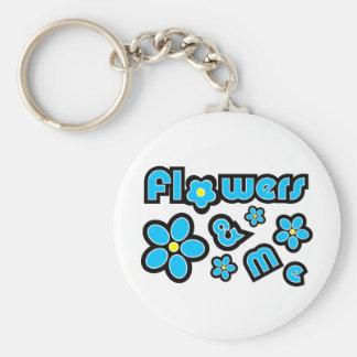 Flores y yo llaveros personalizados