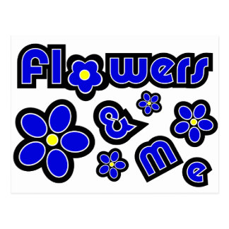 Flores y yo postales