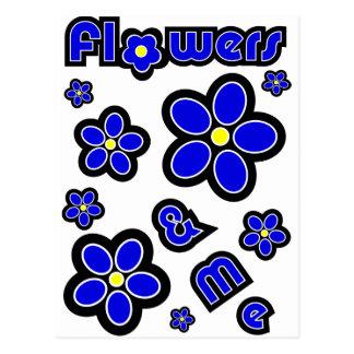 Flores y yo tarjeta postal