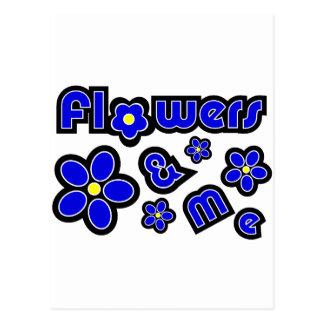Flores y yo tarjetas postales