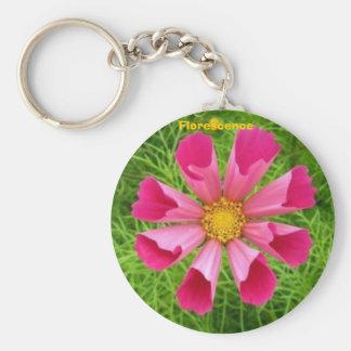 Florescence flower keychain