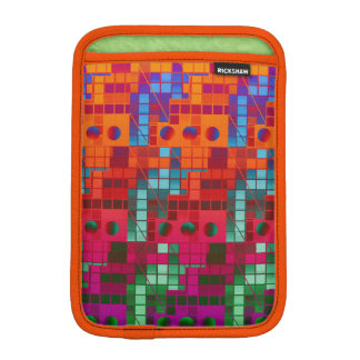 Florescent Abstract Cubes iPad Mini Sleeves
