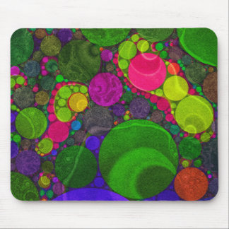 Florescent Abstract Huge Dots Mousepad