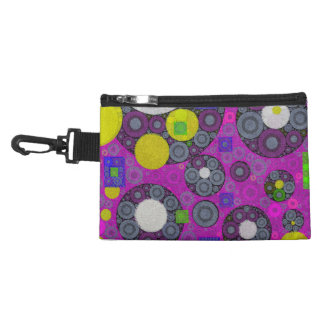 Florescent Abstract Texture Shapes Accessories Bag