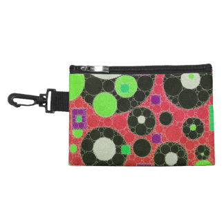 Florescent Abstract Texture Shapes Accessory Bag