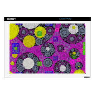"Florescent Abstract Texture Shapes Decal For 17"" Laptop"