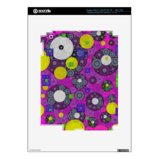 Florescent Abstract Texture Shapes Decals For iPad 3