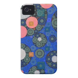Florescent Abstract Texture Shapes iPhone 4 Case