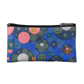 Florescent Abstract Texture Shapes Makeup Bag
