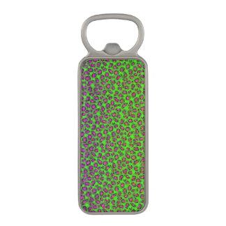 Florescent Animal Print Bling Magnetic Bottle Opener