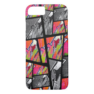 Florescent Black&White Abstract iPhone 8/7 Case