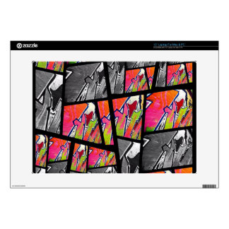 Florescent Black&White Abstract Skin For Laptop