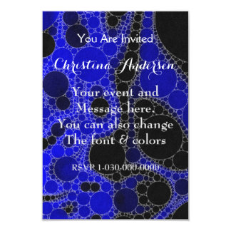 Florescent Blue Black Abstract Card