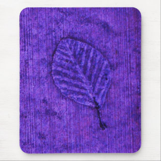 Florescent Blue Leaf fossil Mouse Pad
