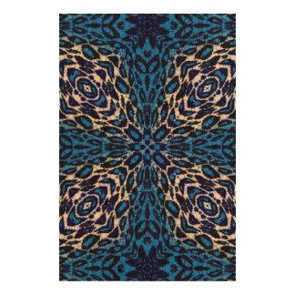 Florescent Blue Leopard Photo Cork Paper