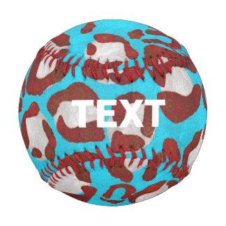 Florescent Blue Red Cheetah Baseball