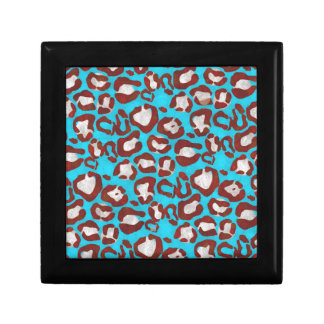 Florescent Blue Red Cheetah Gift Box