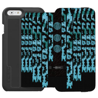 Florescent Blue Turquoise Cheetah iPhone 6/6s Wallet Case