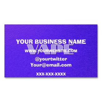 Florescent Blue Vape Magnetic Business Card