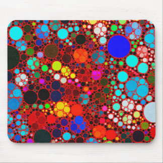 Florescent Bold Abstract Pattern Bling Mousepad