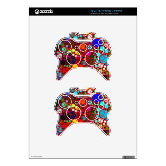 Florescent Bold Abstract Pattern Bling Xbox 360 Controller Decal