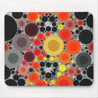 Florescent Bold Abstract Pattern Mousepads