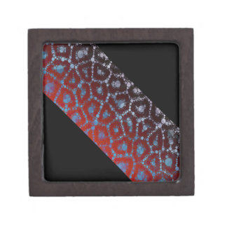 Florescent Cheetah Banner Abstract Keepsake Box