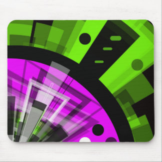 Florescent CRAZY Abstract Mousepad